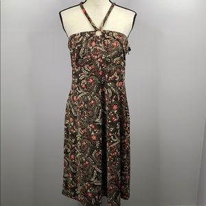Loft halter neck keyhole front paisley dress - 12